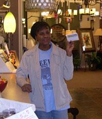 Gloria Wins $500 Shopping Spree